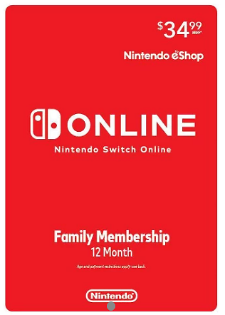 Starts From 11/22, Nintendo Switch Online Family Membership 12 Month (Digital)