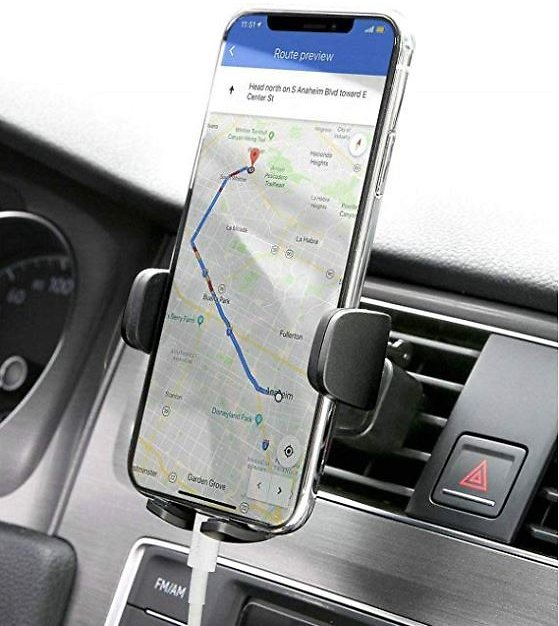 AUKEY Car Phone Mount Air Vent Cell Phone Holder for Car Compatible with IPhone Xs/XS Max / 8/7 / 6, Google Pixel 3 XL, Samsung Galaxy S9+, and Other Phones, Black: Cell Phones & Accessories