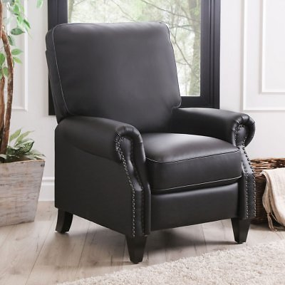 Braxton Leather Pushback Recliner (3 Colors)