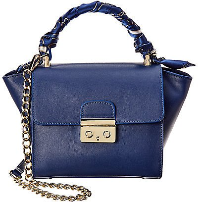 Massimo Castelli Emily Leather Shoulder Bag with Removable Scarf
