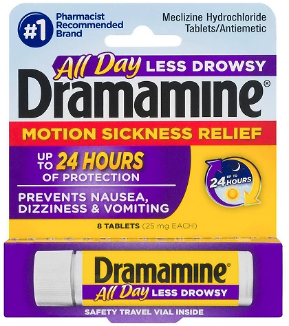 8-Ct. Dramamine Motion Sickness Relief Tablets (Pickup)