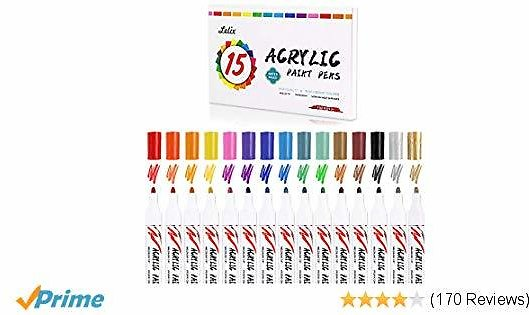 15 Colors Acrylic Paint Markers