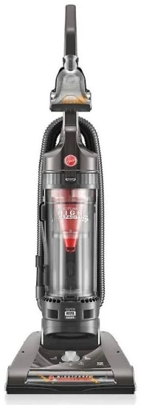 Hoover WindTunnel 2 High Capacity Pet UH70811PC Upright Vacuum - Bagless - Carbon/HEPA - Gray