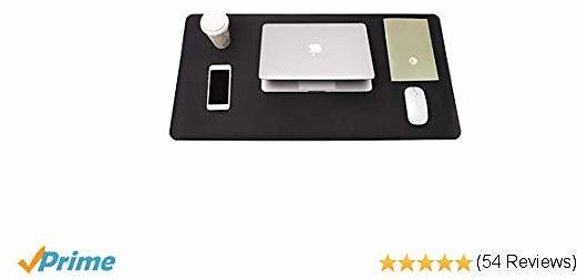 Writing Desk Pad, YSAGi Anti-Slip Thin Mousepad for Computers,Office Desk Accessories Laptop Waterproof Dual-Sided Desk Protect for Office Decor and Home(Black, 31.5