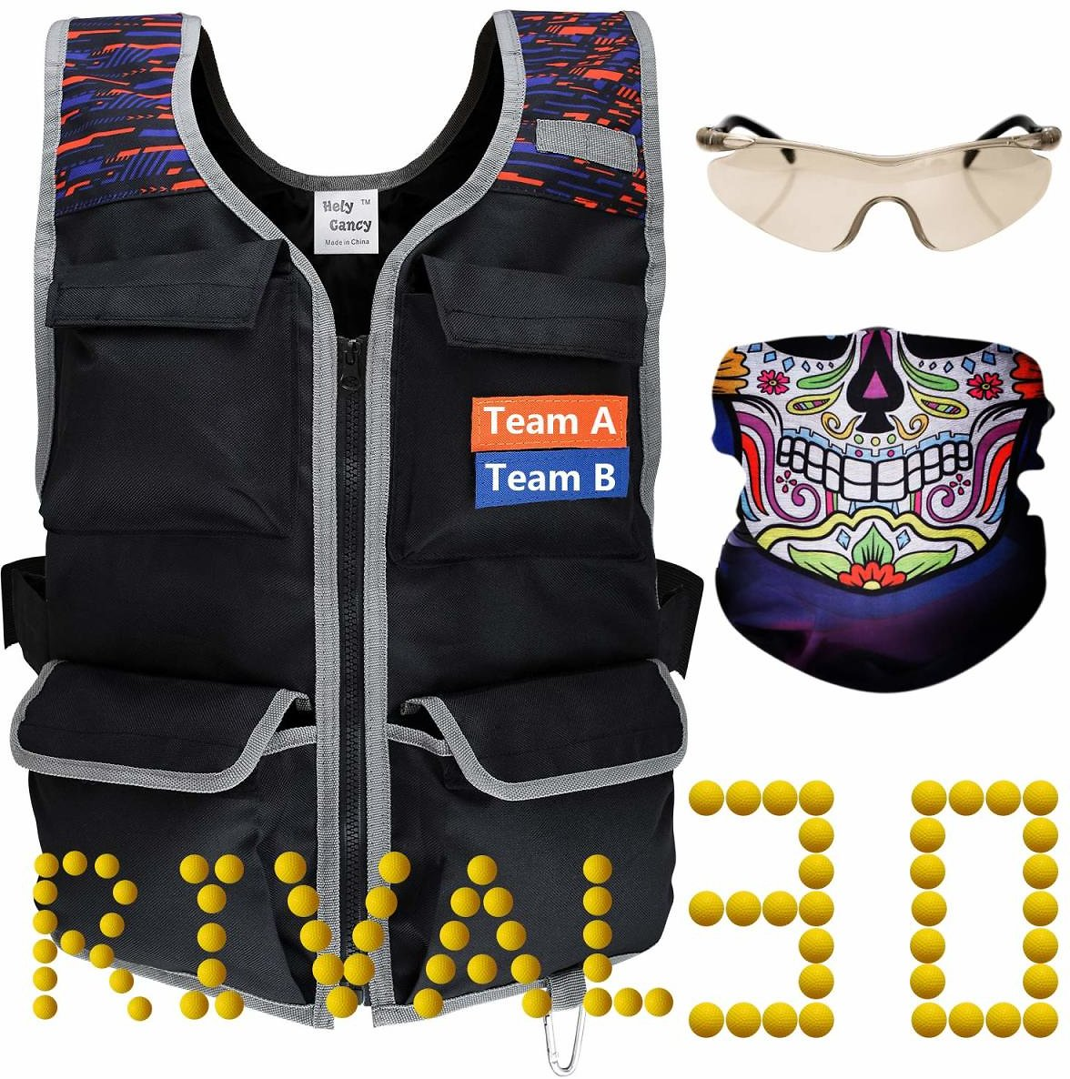 Nerf Rival Tactical Vest Kit with 30 Rival Rounds