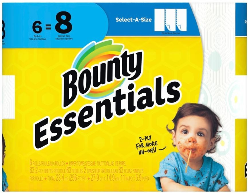 6 Pack Bounty Essentials 2-Ply Paper Towels