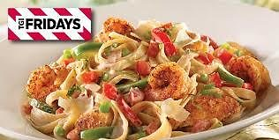 Monday - Cajun Shrimp & Chicken Pasta - $6.99 for a Lunch Portion or $9.99 for a Full Portion - TGI Friday's