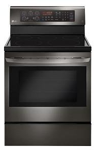 LG Electronics 6.3 Cu. Ft. Electric Range with True Convection Oven and Self Clean in Black Stainless Steel-LRE3194BD