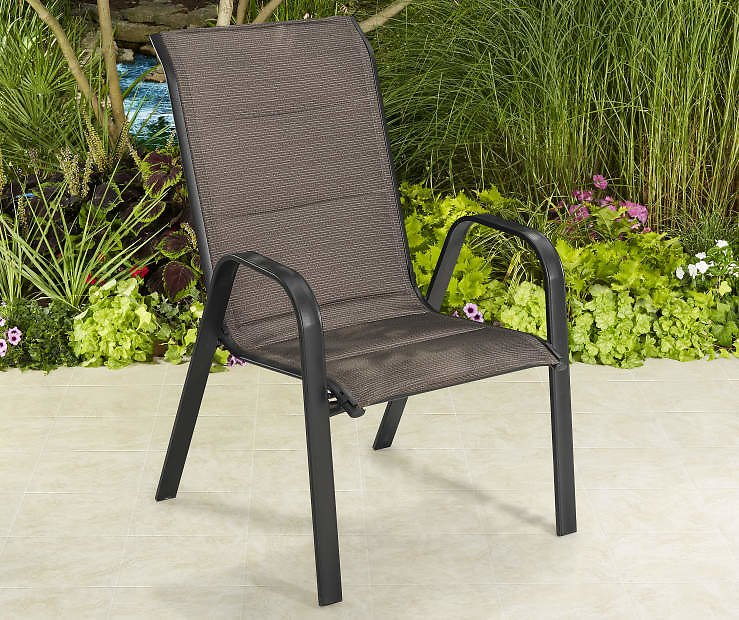 Wilson & Fisher Aspen Brown Oversized Padded Stacking Chair
