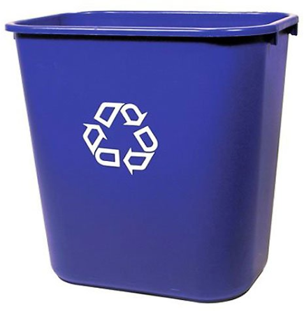 Rubbermaid FG295673 Medium Deskside Recycling Container 7-Gal