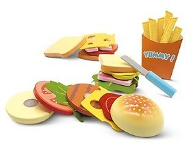 Bee Happy Wooden Play Food Set (9/18)