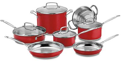 Cuisinart Chef's Classic 11pc Cookware Set + Ships Free