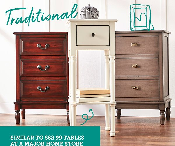 In-Store Only! 1 Drawer Accent Tables