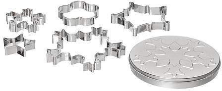 VINTERFEST 5 Cookie Cutters with Container, Assorted Shapes (In Store)