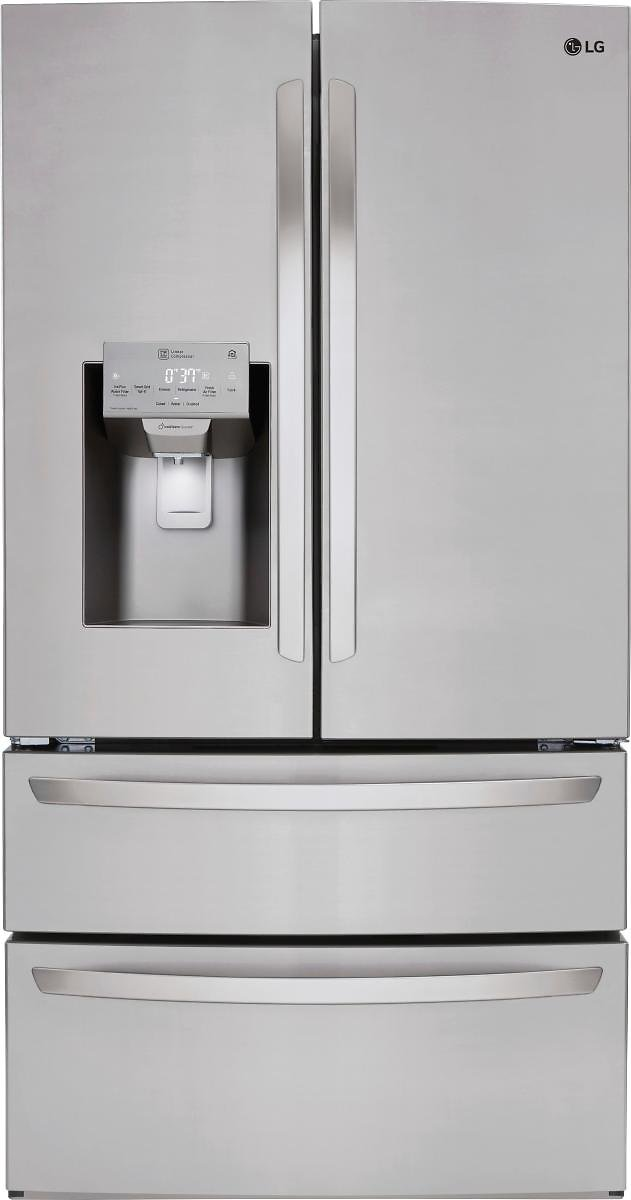 LG 27.8 4-Door French Door Smart Wi-Fi Enabled Refrigerator PrintProof Stainless Steel LMXS28626S