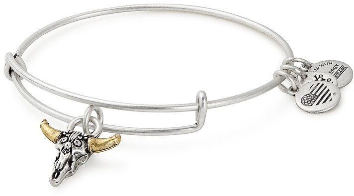 Alex and Ani   Spirited Skull Charm Expandable Wire Bracelet   Nordstrom Rack