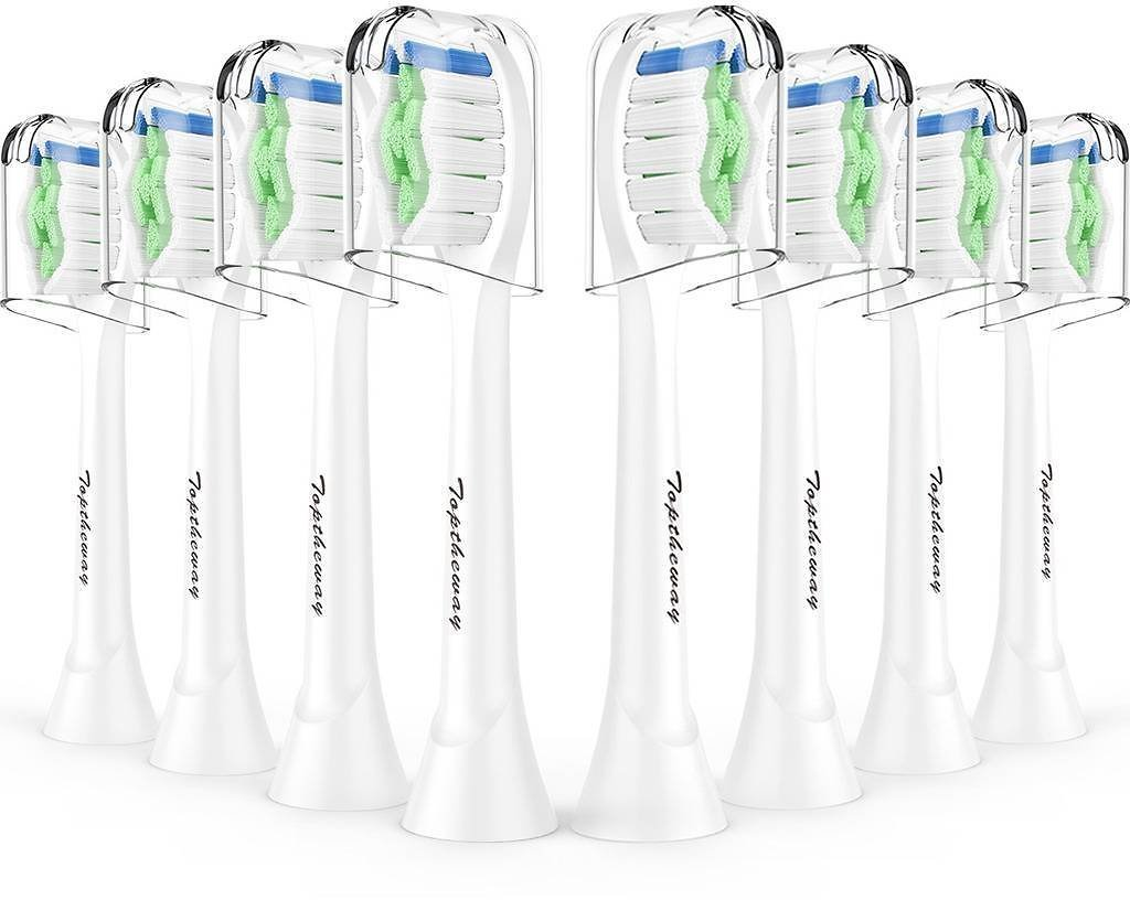 8 Pcs Toptheway Replacement Brush Heads Compatible with Phillips Sonicare DiamondClean Electric Toothbrush HX6063/64