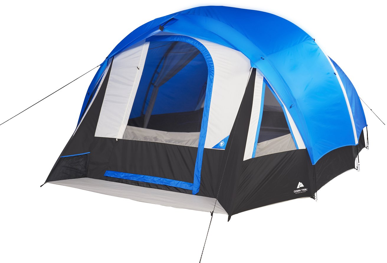 Ozark Trail 10-Person Freestanding Tunnel Tent w/Multi-Position + F/S