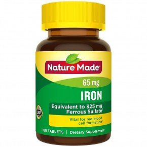 BOGO Free Nature Made Iron Tablets, 65mg - 180 Ct