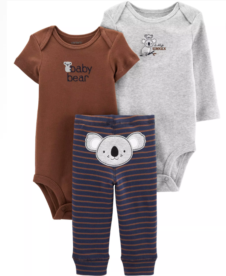 $10 Carter's 3-Piece Little Character Set (Mult. Styles) + Free Shipping