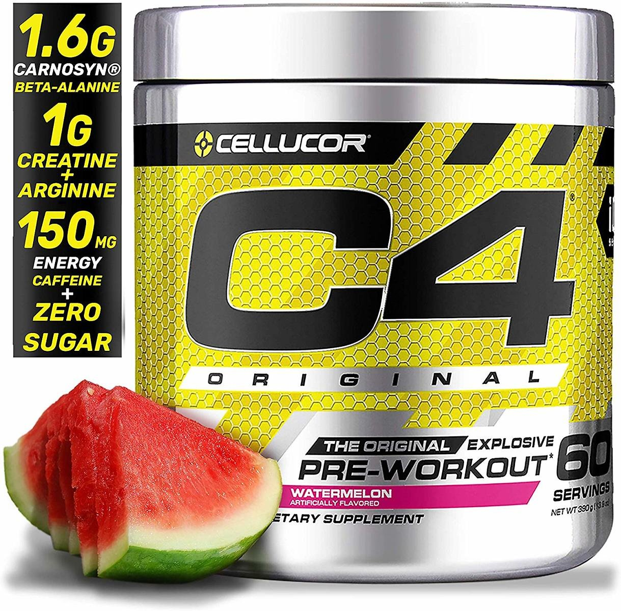 Cellucor C4 Original Pre Workout Powder Energy Drink Supplement For Men & Women, 60 Servings
