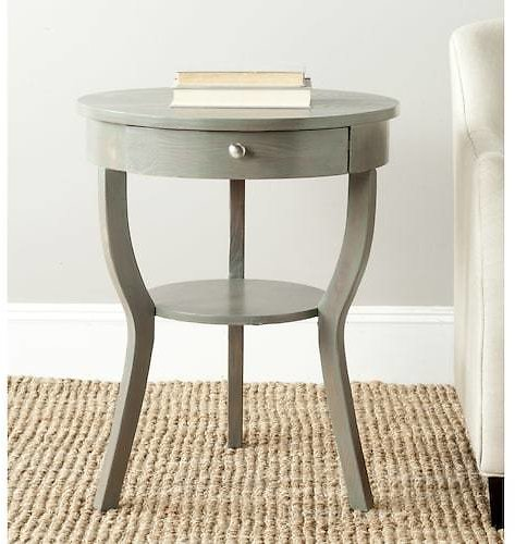 Safavieh Kendra French Gray Wood Casual End Table