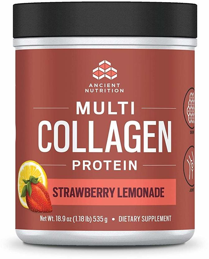 Ancient Nutrition Multi Collagen Protein Powder, Strawberry Lemonade Flavor - 45 Servings