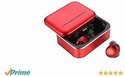 Wireless Earbuds, MusicSnail Newest True Bluetooth 5.0 Touch Control In-Ear Earphones,Deep Bass HiFi 3D Stereo Sound Noise Headphones,Waterproofed Sport 3200mAh Portable Charging Case 150H Red