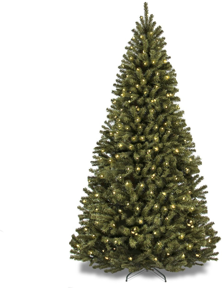 6ft Pre-Lit Spruce Artificial Christmas Tree w/ 250 Incandescent Lights
