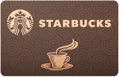 Starbucks Gift Card $50 Value, Only $44.05 + Free Shipping