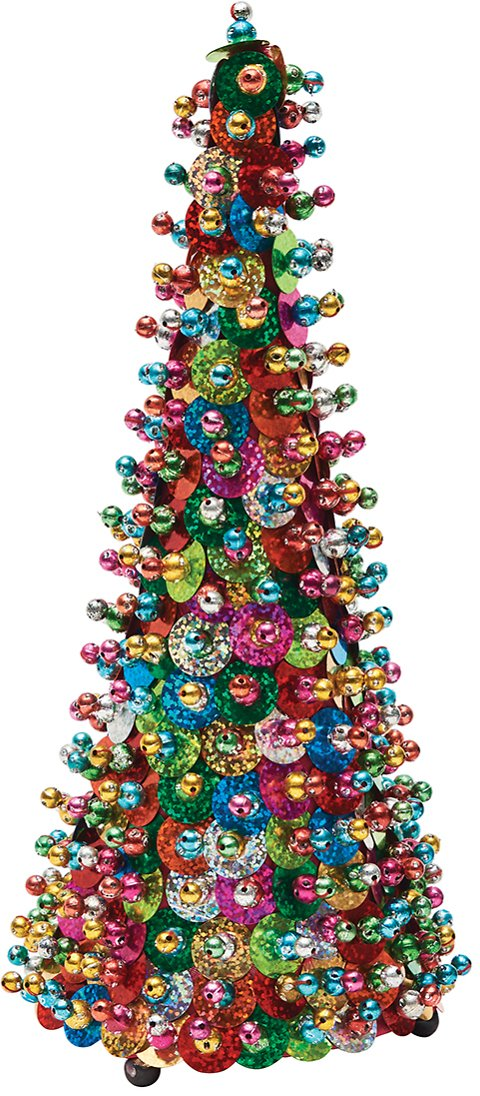 Up to 50% off Best of Holiday Top Picks! Pink & Green Small Retro Sequin Tree