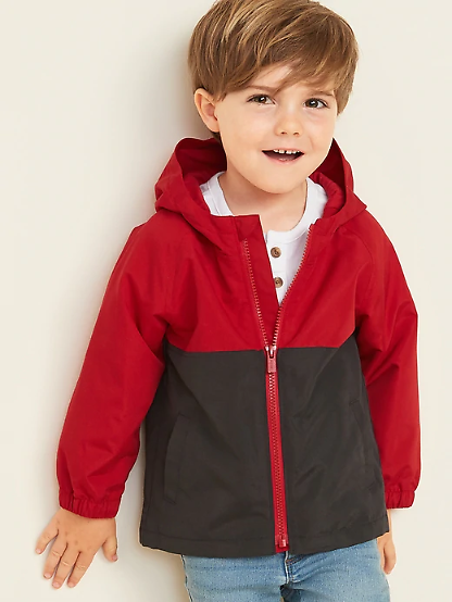 Old Navy Hooded Color-Blocked Jacket for Toddler Boys