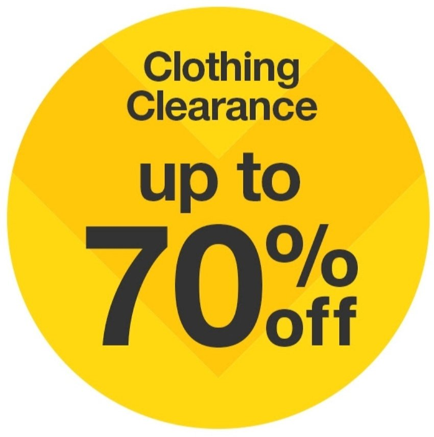 Up to 70% OFF Clothing & Accessories Clearance