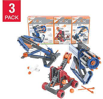 VEX Robotics Launchers STEM Construction Kit Bundle, 3-pack
