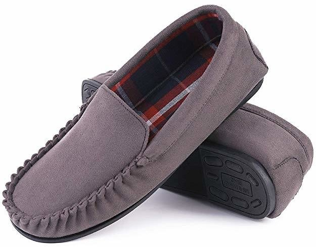 Up to 65% Off EverFoams Men's Classic Micro Suede Moccasin Slippers $8.75 + Fee Shipping w/ Prime
