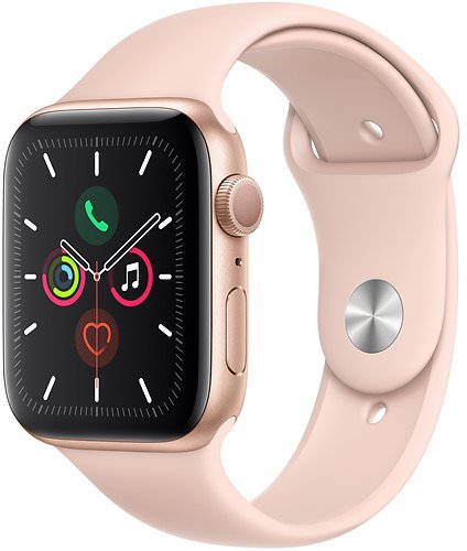 New Release: Apple Watch Series 5 (GPS Only, 44mm, Gold Aluminum, Pink Sand Sport Band)