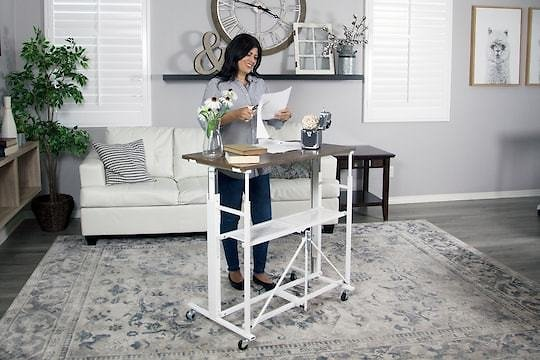 UP2U Sit-Stand Adjustable Fold-Away Desk (In-Store)