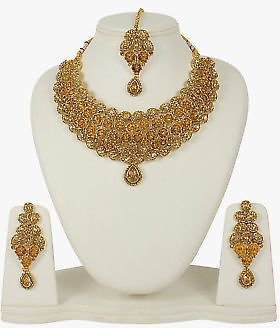 Indian Fashion Necklace Wedding Traditional Set
