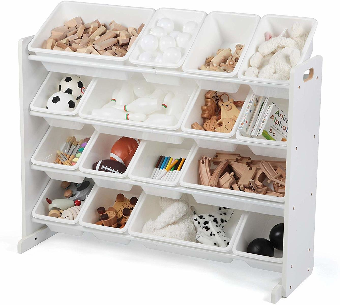 Tot Tutors WO135 Extra-Large, Supersized Toy Storage Organizer (White, Cambridge Collection)