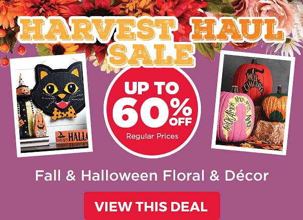 Up to 60 Off Fall and Halloween Decor & Floral.