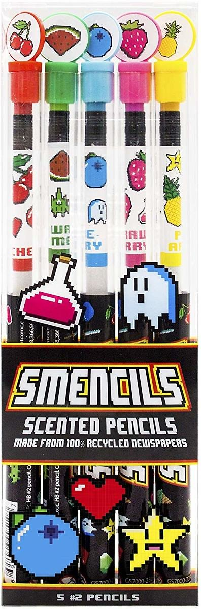 Scentco Gamer Smencils - HB #2 Scented Pencils, 5 Count: Office Products