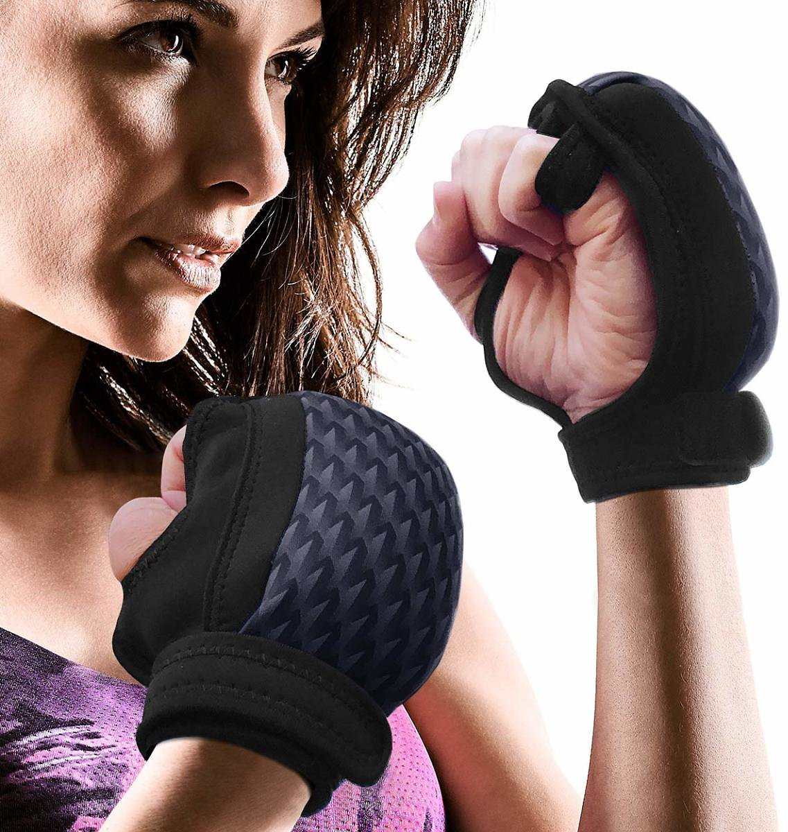Empower Weighted Gloves for Women, Kickboxing, MMA, 4 Lb Set (2 Pounds Each Glove), Geo Black : Industrial & Scientific