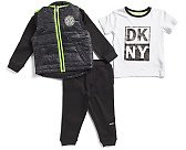 Toddler Boys 3pc Puffer Jacket And Fleece Jogger Set - Toddler Boys (2t-5t) - T.J.Maxx