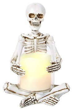 Halloween Skeleton Candle Holder (In Store)
