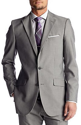 Madison Slim-Fit Light Gray Suit Separate Coat for $28.79