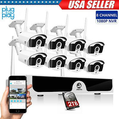 8CH 1080P Wireless HDMI NVR Outdoor Security IP Camera CCTV Home Security System