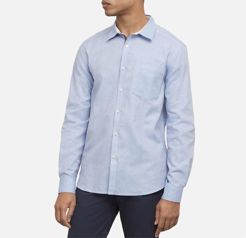 Kenneth Cole New York Dobby Dot Shirt (2 Colors)