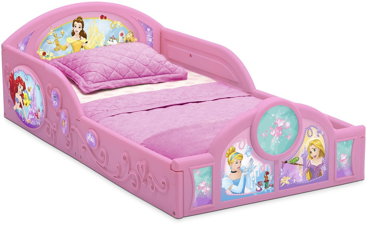 Disney Princess Plastic Sleep and Play Toddler Bed (3 Colors)