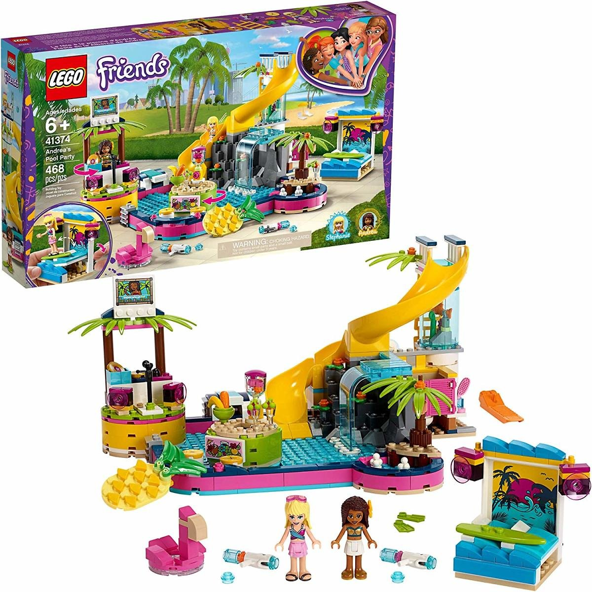 LEGO Friends Andreas Pool Party 41374 Building Set