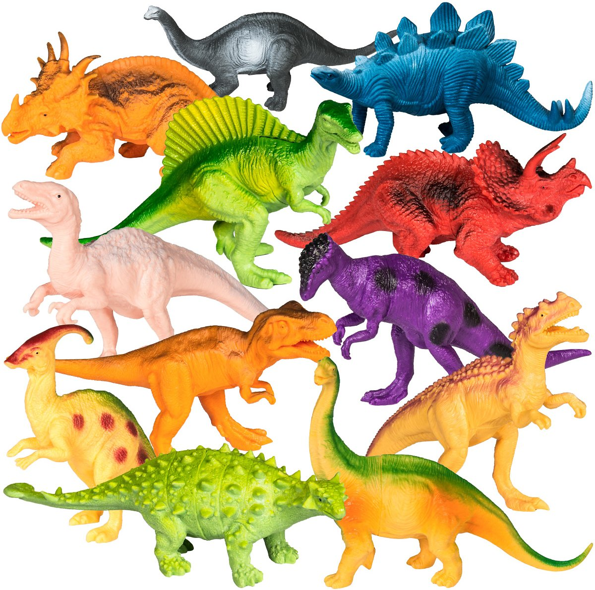 Best Choice Products 12-Pack of 7-Inch Mini Dinosaur Play Set of Educational and Realistic Models